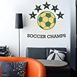 Decal Style Soccer Champs Wall Sticker Large Size- 32*30 Inch Color - Multicolor