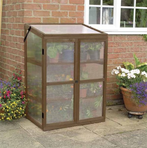GARDMAN WOODEN GROWHOUSE, TIMBER, MINI GREENHOUSE, COLD FRAME