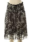 puku スピンドル付きシャーリングスカート : フレアスカート