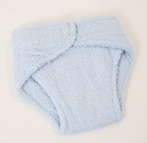 FRILLY LILY MEDIUM DOLLS BLUE TERRY NAPPIES X 2 PACK
