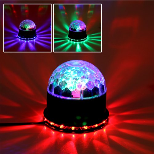 Origlam® Rgb Colors Changing Led Light Magic Stage Ball Light Lamp Disco Party Ktv Bar Club Skating Rink Crystal Effect Light