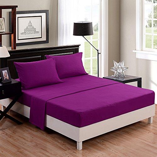 Honeymoon-super-soft-Elegant-Wrinkle-Free-Fade-resistant-No-Ironing-4PC-bed-sheet-set-TwinFullQueenKing-Black-deep-pockets-sensitive-skin-fine-workmanship-Easy-Care