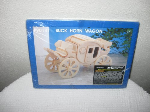 Buck Horn Wagon Wooden Model Kit
