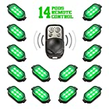 Premium Motorcycle Engine & Ground 84 LED Neon Accent Light Kit with 4-key Remote - Green