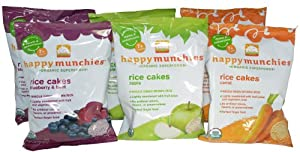 Happy Munchies Organic Superfoods Rice Cakes Variety Pack of 6