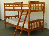 Bunk Bed Twin over Twin Turn Post style in Cinnamon