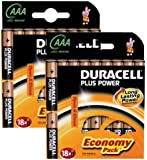 Duracell Plus Power MN2400 Alkaline AAA Batteries - 36-Pack