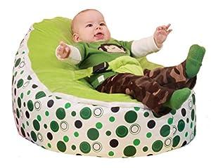 SnuggleRoo Baby Bean Bag Chair *FILLED* + WATERPROOF (Polka Dots) by SnuggleRoo