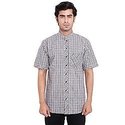 Fbbic Charming Black Men's Checkered Shirt(Size::XL)