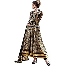 Latest Wize Marvelous Black Color Georgette Embroidered Dress Material