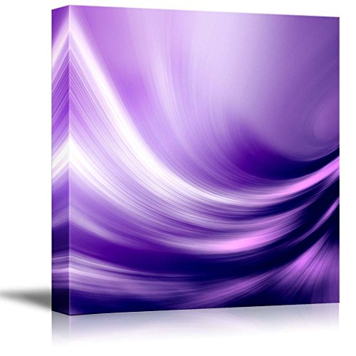 Wall26 - Canvas Prints Wall Art - Electric Waving Purples | Modern Wall Decor/ Home Decoration Stretched Gallery Canvas Wrap Giclee Print. Ready to Hang - 12