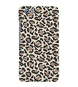 Leopard Pattern 3D Hard Polycarbonate Designer Back Case Cover for Micromax Canvas Fire 4 A107