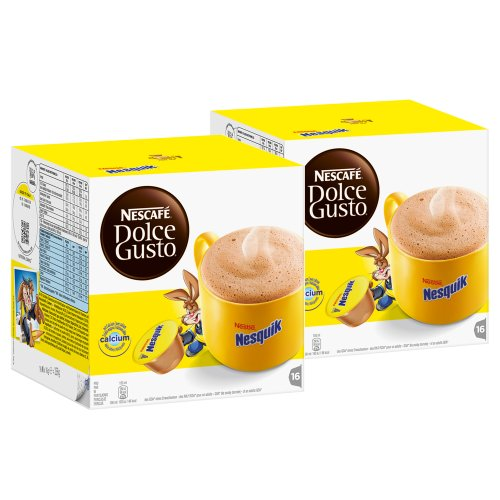 Order Nescafé Dolce Gusto Nesquik, Pack of 2, 2 x 16 Capsules by Nestlé