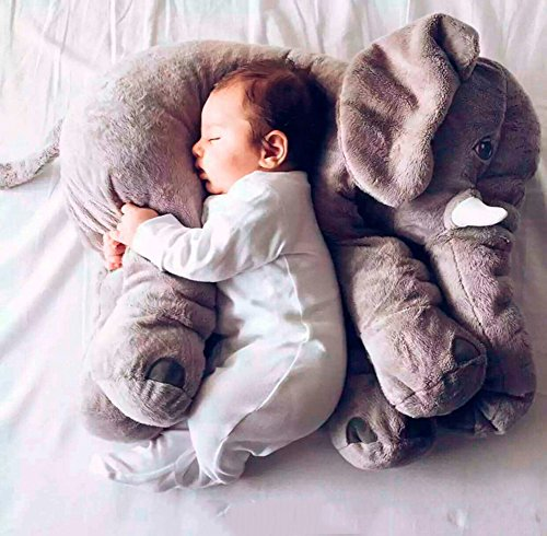 CHICVITA Elephant Stuffed Plush Pillow Pals Cushion Plush Toy - 51f96QvasCL - CHICVITA Large Stuffed Elephant Plush Pillow Baby Toys Animals Pillows, 24 Inches