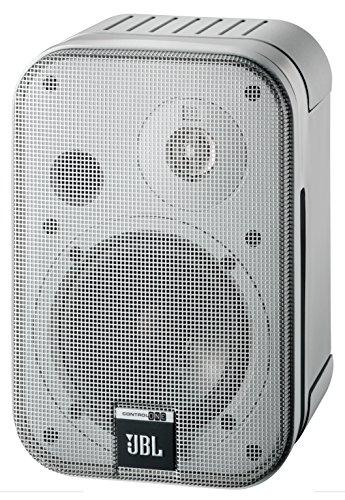 """JBL Control One Resistenti Altoparlanti Monitor Audio Satellite da Scaffale a 2 Vie da 100 mm (4"""") (Coppia), Argento"""