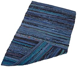 DII Home Essentials Rag Rug for Kitchen, Bathroom, Entry Way, Laundry Room and Bedroom, 20 x 31.5\