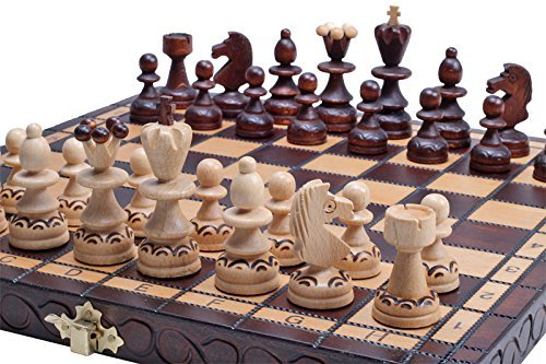 The Delbog Wood Chess Set with Chess Board and Storage 0