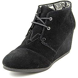 Toms Women\'s Desert Wedge Black Casual Shoe 10 Women US