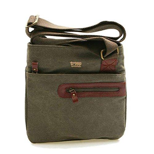 troop-london-trp-0227-casual-cross-bag-canvas-fabric-leather-waterproof
