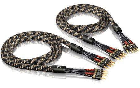 1Pair 3,0M Viablue Sc-4 Silver-Series Bi-Wire Speaker Cable T6S