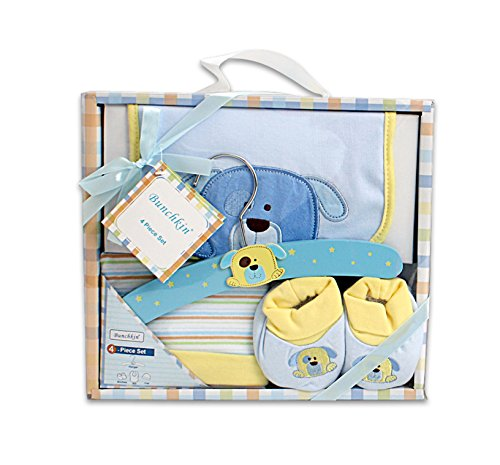 4 Piece Blue Layette Set For Baby Boy