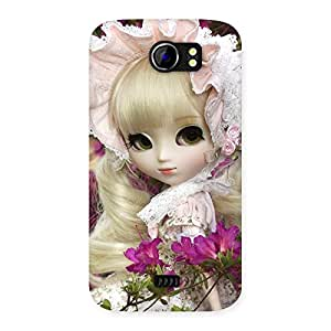 Delighted Angel Look Doll Back Case Cover for Micromax Canvas 2 A110