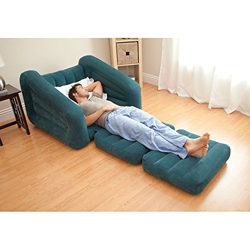 Intex Inflatable Air Chair Pull Out Twin Bed Mattress Sleeper Sofa College Dorm Ebay