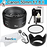 Deluxe Accessory Bundle for Canon EOS Rebel Digital SLR Cameras + Canon EF 50mm f/1.8 II Camera Lens
