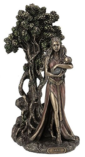 Danu Irish Triple Goddess Of The Tuatha De Danann Bronze Finish Statue