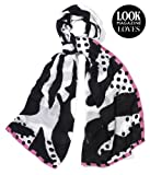 Viscose Cotton zebra print scarf featured in Look Magazine