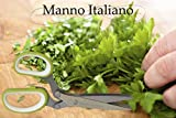 Herb Scissors for Cutting Herbs - 5 Blades with Cover - Finely Cut Basil Oregano Parsley or Any Small Vegetables
