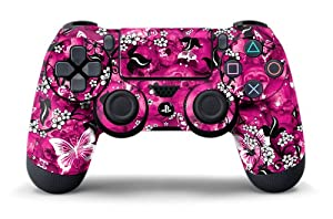 PS4 Controller Designer Skin for Sony PlayStation 4 DualShock Wireless Controller - Pink Butterflies