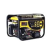 エンジン発電機 (イエロー) 最大3.5kVA 7.5馬力 200V100V同時切替出力 単相発電機