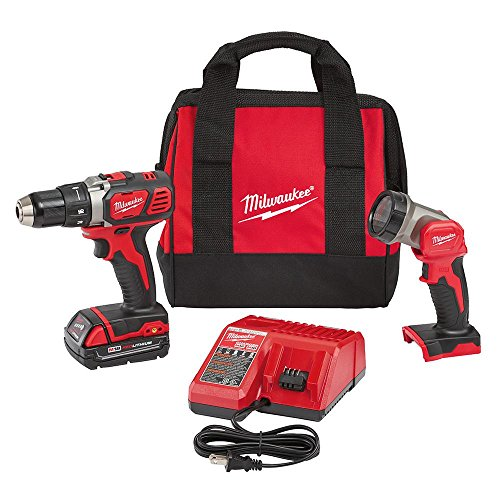 Milwaukee M18 2606-21L 18-Volt Lithium-Ion Cordless 1/2 in. Compact Drill/Worklight Kit (1-Battery) (Milwaukee Cordless Drill Battery compare prices)