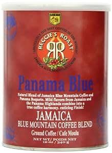 Reggie's Roast Jamaica Blue Mountain Panama Blue Ground Coffee, 12-Ounce Cans (Pack of 2)
