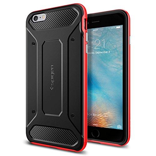 Spigen iPhone6s Plus ケース / iPhone6 Plus ケース, ネオ・ハイブリッド カーボン [ 米軍MIL規格取得 二重構造 TPU カーボンテクスチャー ] アイフォン6s プラス / 6 プラス 用 カバー (ダンテ・レッド SGP11668)