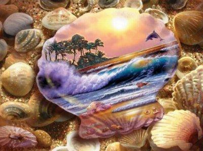 Cheap SunsOut Seashell Fantasy 1000pc Jigsaw Puzzle by Steve Sundram (B00478DQIY)