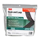 3M Fastener TB3571/TB3572 Hook/Loop Black, 1 in (25.4mm) x 10 ft (3.05m) (1 Mated Strip/Bag)