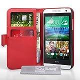 Yousave Accessories HT-DA03-Z452 Etui en cuir pour HTC Desire 610 Rouge