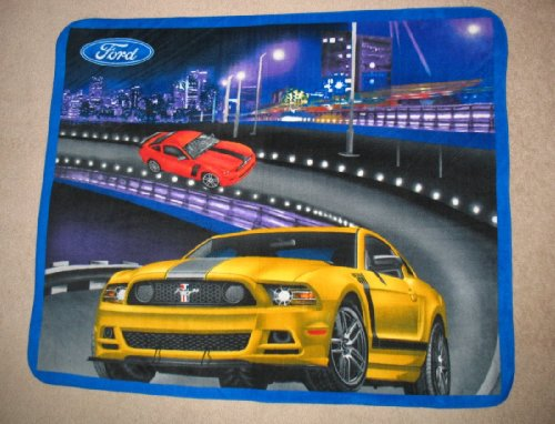 "Ford Mustang Panel ""Still The Boss"" Fleece Throw Blanket front-551120"