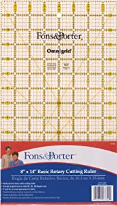 Fons & Porter 8-Inch-by-14-Inch Rotary Cutting Ruler