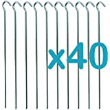 "40 TENT PEGS ""HEAVY DUTY"" GALVANISED AWNING GARDEN POND NETTING CAMPING 9"""