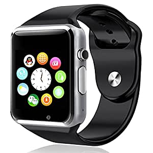 Elv Smart Watch, E LV High Quality Touch Screen Bluetooth Smart Wrist Watch with Camera & SIM Card Slot For Apple iPhone IOS, Android Smartphones Samsung,HTC,Blackberry and more BLACK