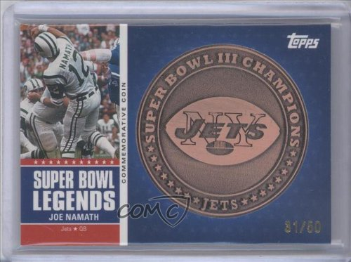 Joe Namath #31/50 New York Jets (Football Card) 2011 Topps Super Bowl Legends Coins Bronze #SBLCIII at Amazon.com