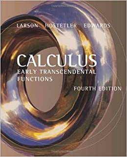 Calculus early transcendental functions forth homework answers