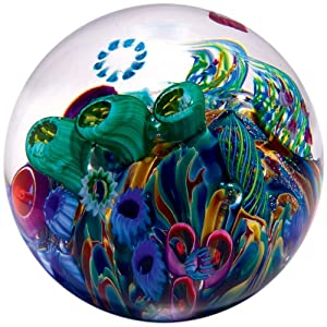 Glass Eye Studio Cool Pool Blown Glass Paperweight