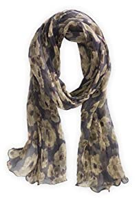 Asian Eye Fair Trade Viscose Dogwood Scarf (Grey)