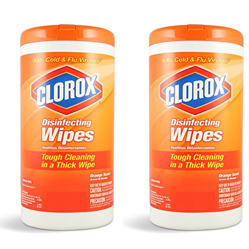 Clorox Disinfecting Wipes Orange Scent, 78 Count (PACK OF 2) (Clorox Commercial Wipes compare prices)