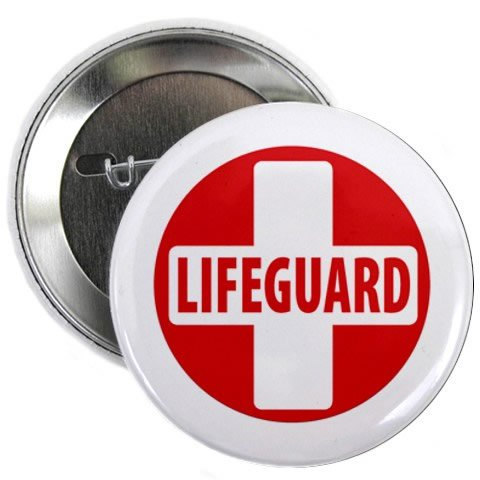 Lifeguard Cross Red White Heroes 2 25 Pinback Button Badge