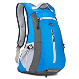 15L Hiking Daypack - Evecase Compact Waterproof Outdoor Climbing Cycling Sport Backpack- Blue